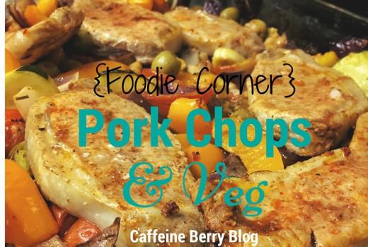 recipe, food, pork chops, vegetables,