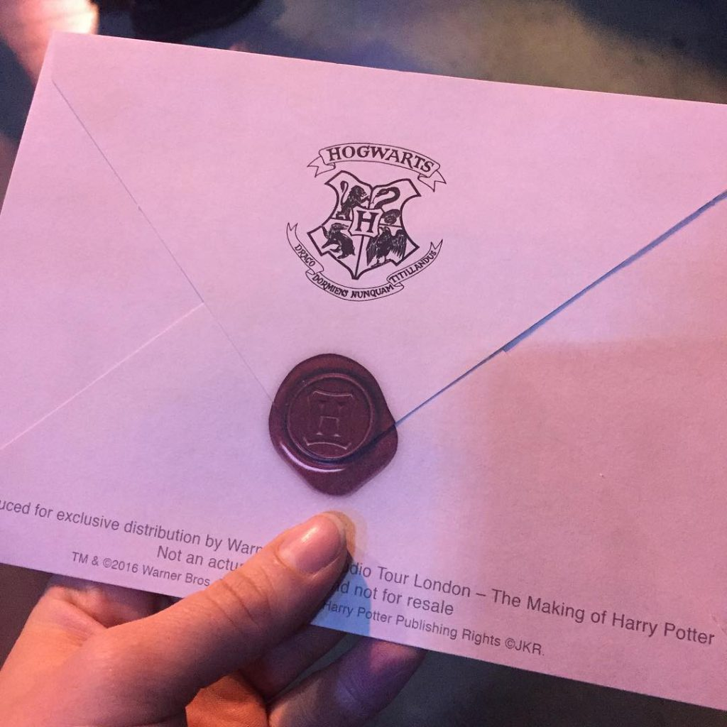 Harry Potter, Hogwart's Acceptance Letter, London, Studio