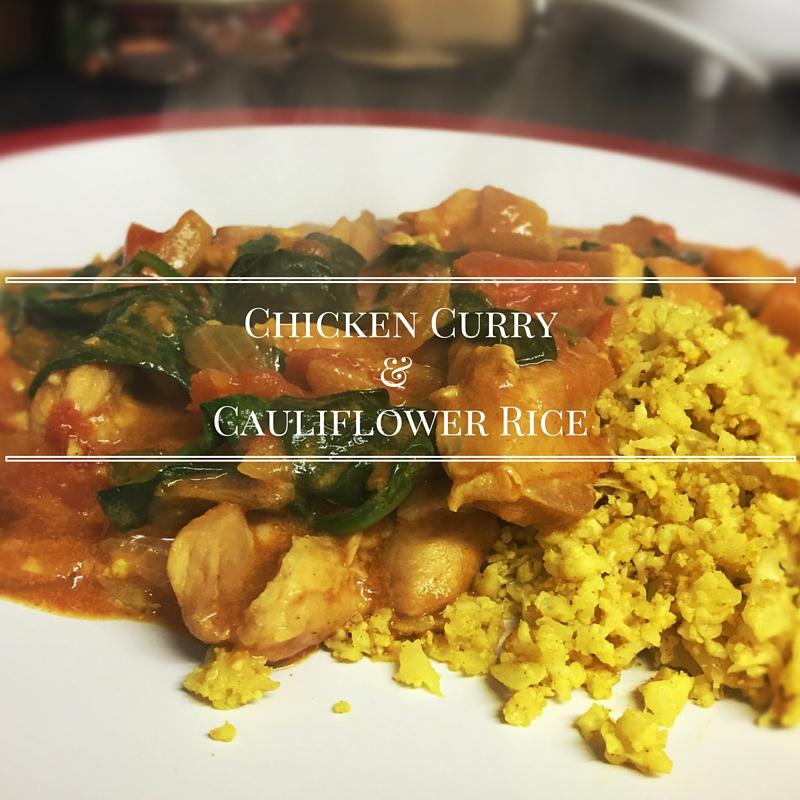 Chicken Curry and cauliflower rice recipe