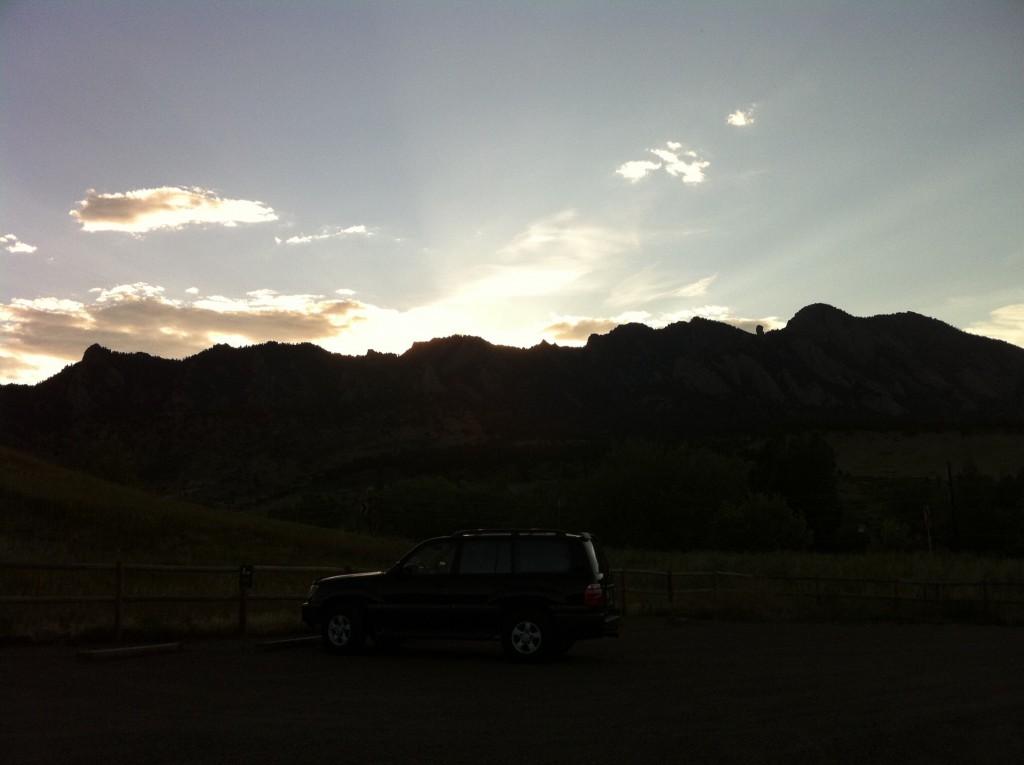 colorado, denver, mountains, sunset