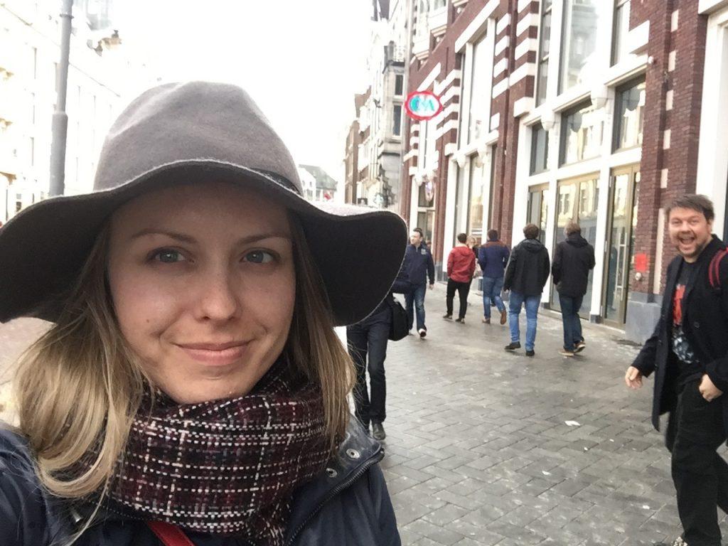 Photobombed in Amsterdam