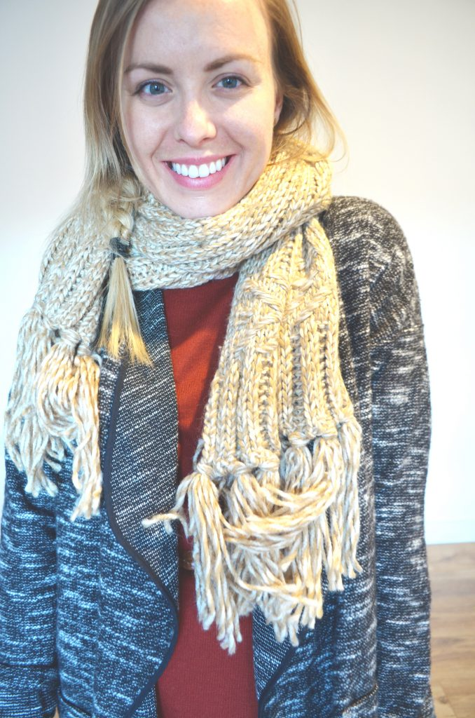 scarf and tunic, autumn outfit ideas