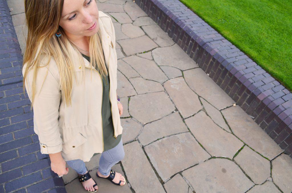 zipper jacket beige, zara, navy green