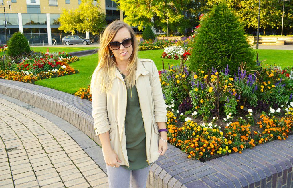 zipper jacket and shirt in queens gardens