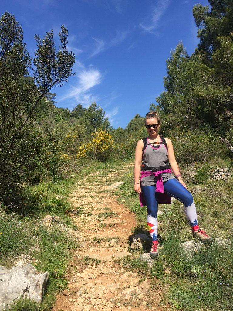 hiking in Spain sporting my Colorado Threads leggings