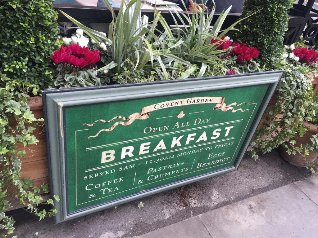 Covent Garden, Breakfast