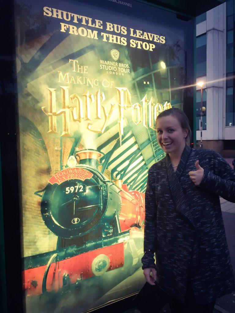 harry potter studio bus stop, london