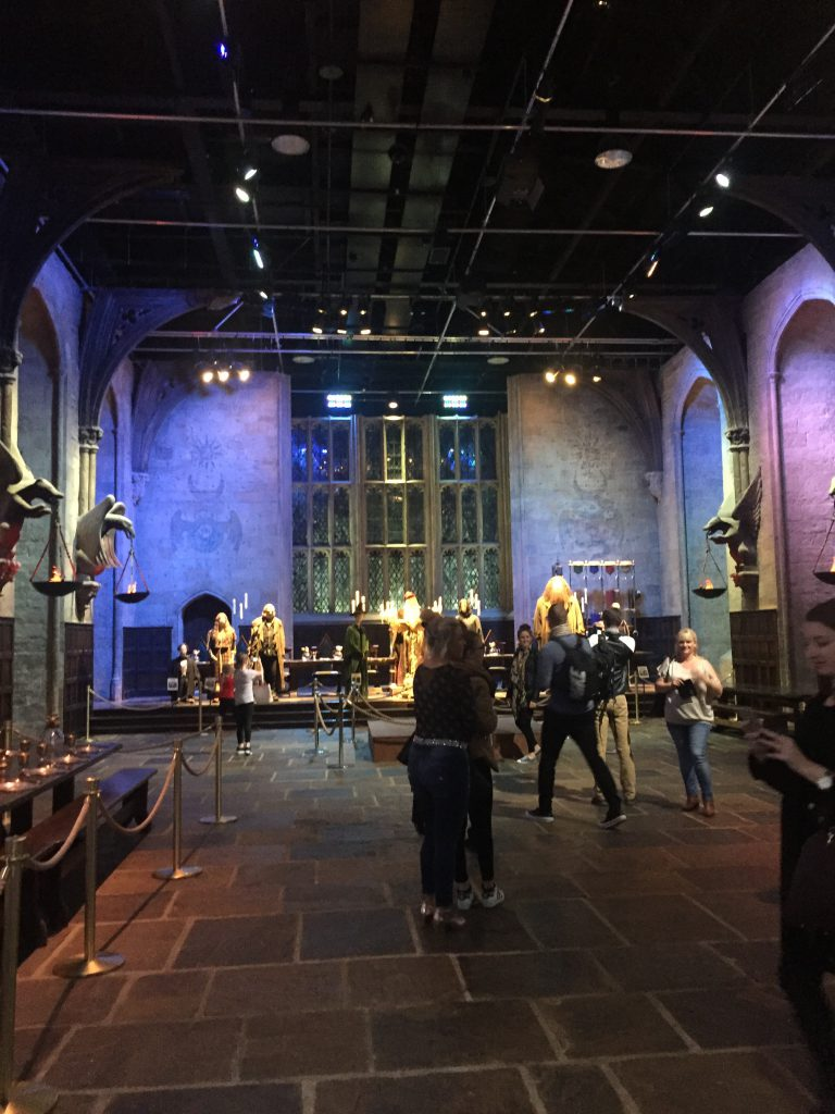 great hall, harry potter studios, tour, london