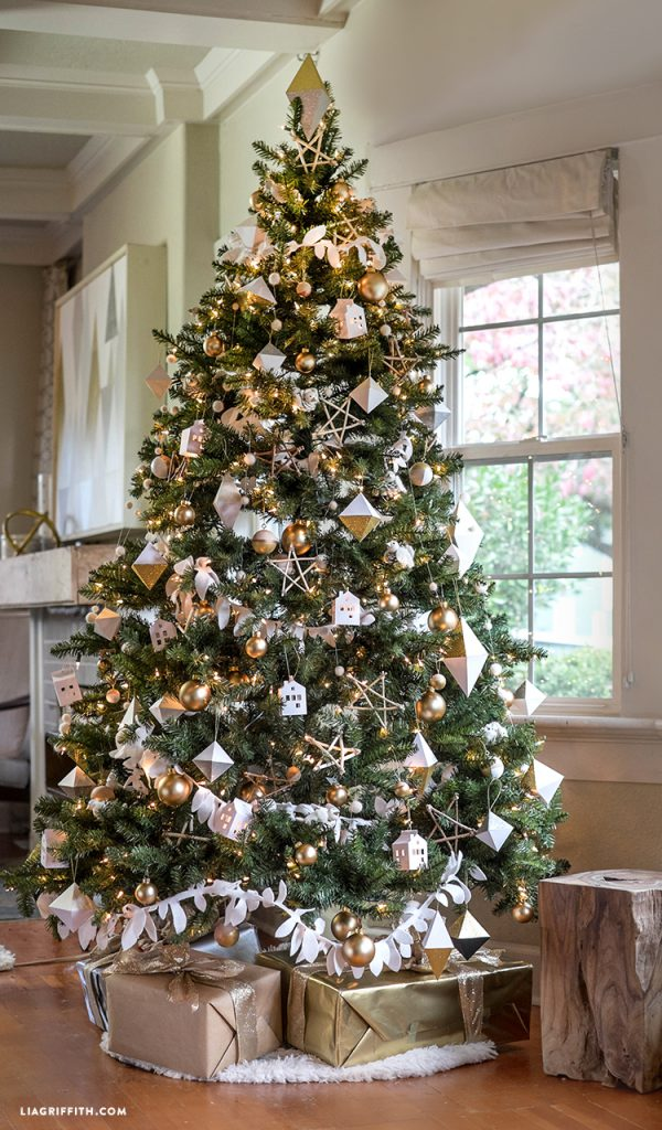 christmas, scandinavian, tree, decorations, stars