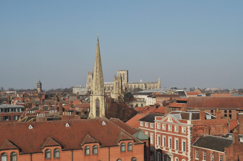 View of York from Clifford's Tower, York Minster