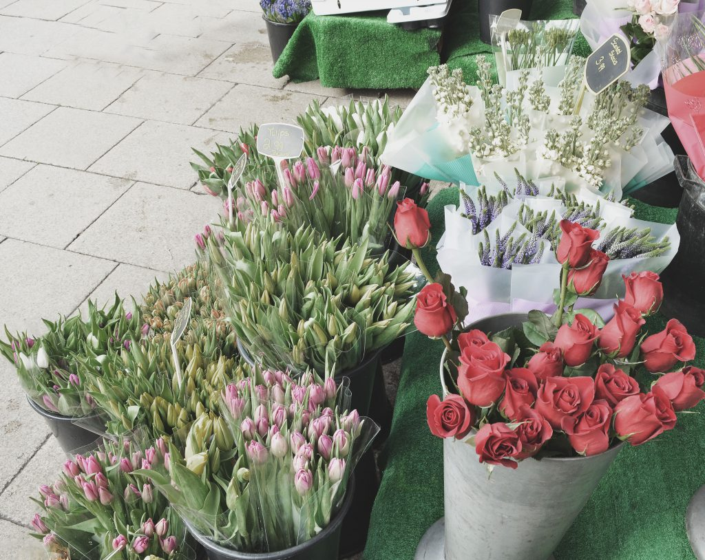 flower stand in York, Northern England