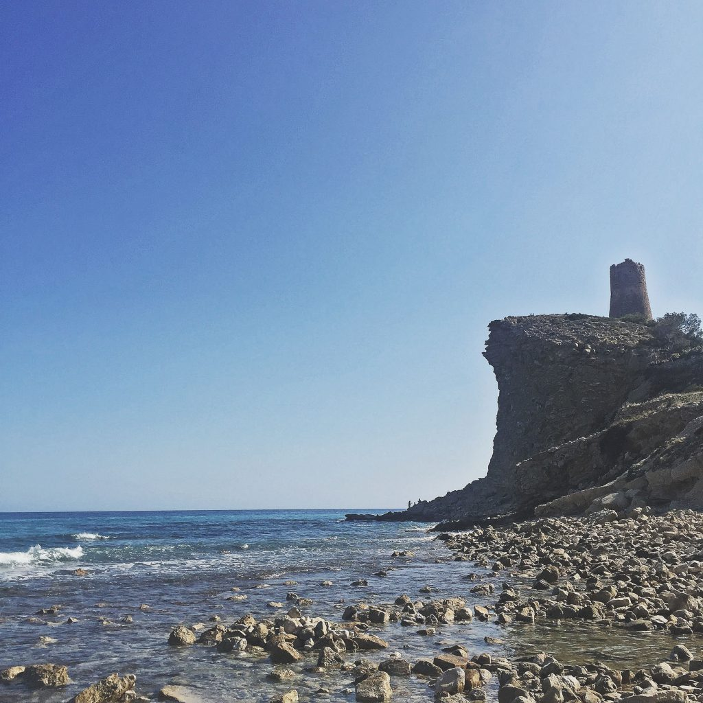 the perfect rocky beach, villajoyosa