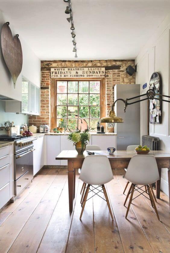 wooden-kitchen, minimalistic, rustic
