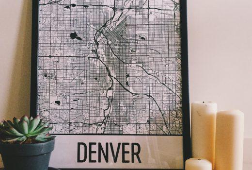 Denver Map Art from Modern Map Art