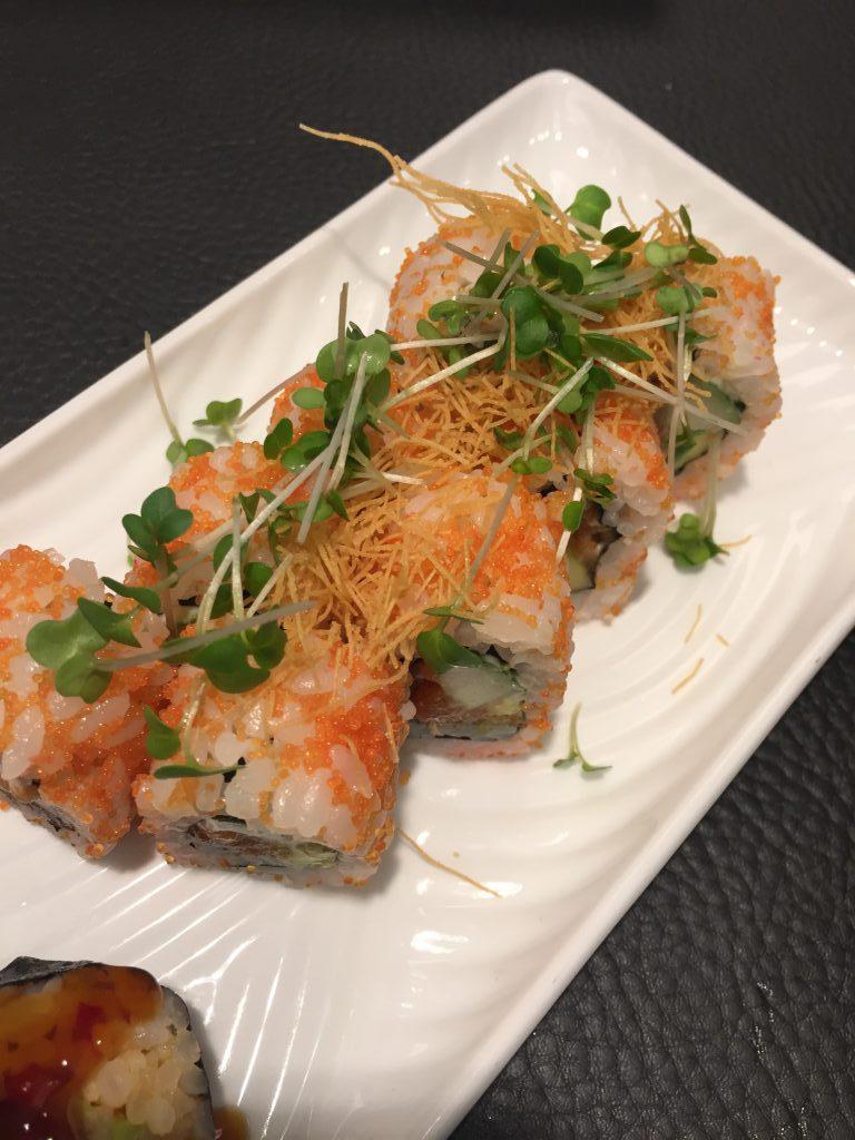 Sushi from Sushi'n'Sticks, Canary Warf London