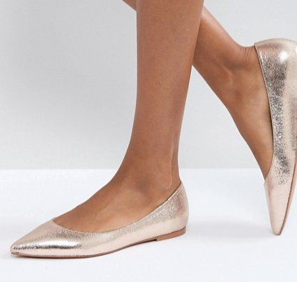 Cute holiday party shoes - pointed ballet flats