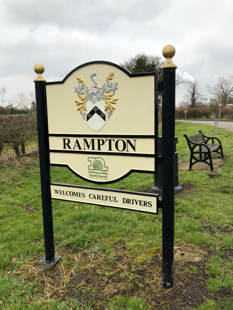 Rampton, England, Village
