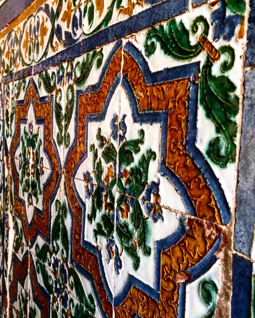 wall decorations in the Alhambra, in Granada, Spain