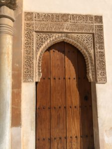 Door in the Alhambra, Granada, Spain