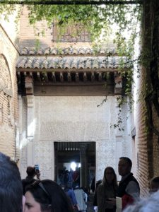 beautiful passageway in the Alhambra, Granada, Spain